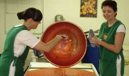 Picture of Ladies making Candy in a Copper Kettle